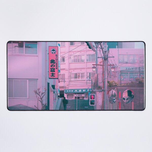 Vaporwave Aesthetic Tokyo Pink Japan Citypop lofi moody vibe Desk Mat