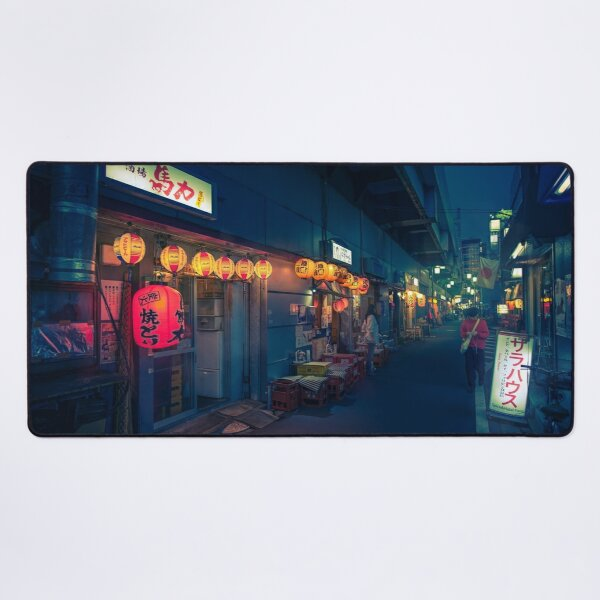 Neo Tokyo - Streets of Koenji Desk Mat