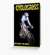 CYCLOCROSS; Vintage Bicycle Racing Advertising Print Greeting Card