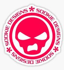 Sookie Designs Sneer Skull Logo Pink Sticker