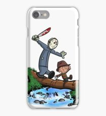 Freddy and Jason - Calvin and Hobbes Mash Up iPhone Case/Skin