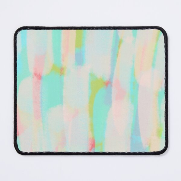 Modern Abstract Colorful Coal textured Rainbow Red Pink Green  Blue Beige Stripes Lines Strokes Mouse Pad
