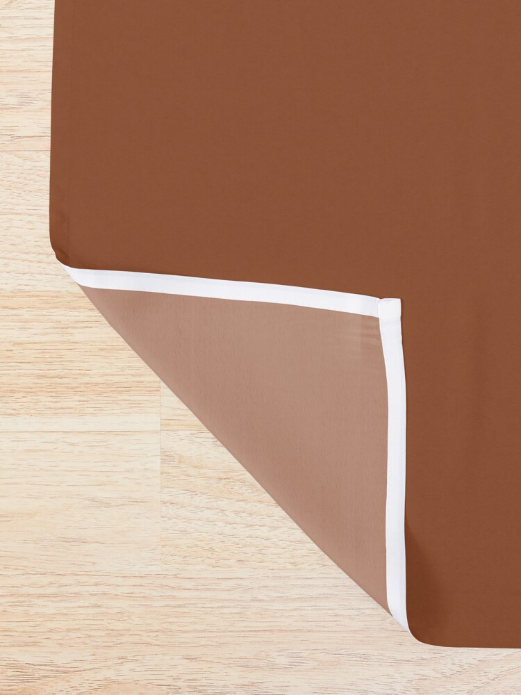 Alternate view of Burnt Orange x Stripes Shower Curtain