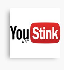 Funny Gym - Logo Spoofs -  Youtube - You Stink Canvas Print