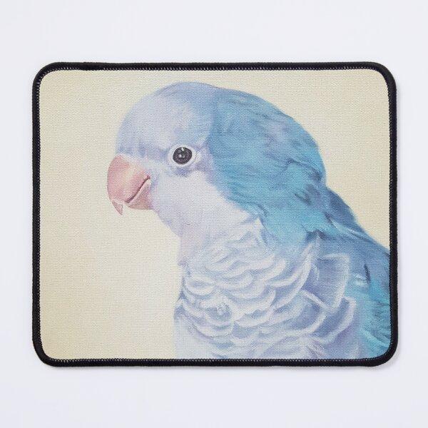 Blue Quaker - pet bird portrait painting Mouse Pad