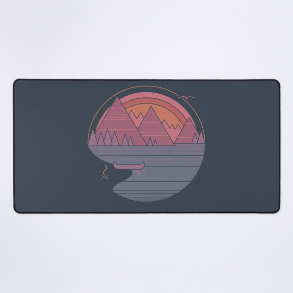 The Mountains Are Calling Desk Mat