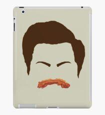 Ron Swanson Bacon Mustache  iPad Case/Skin