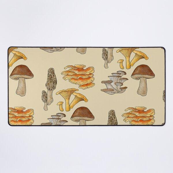 California Edible Mushrooms  Desk Mat