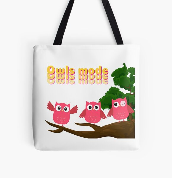 pretty owls All Over Print Tote Bag