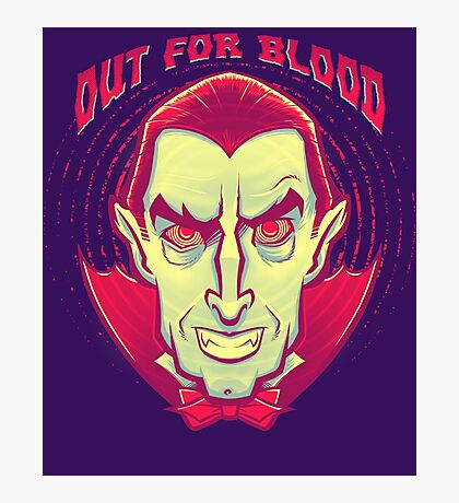 Classic Halloween: Dracula the Vampire Photographic Print