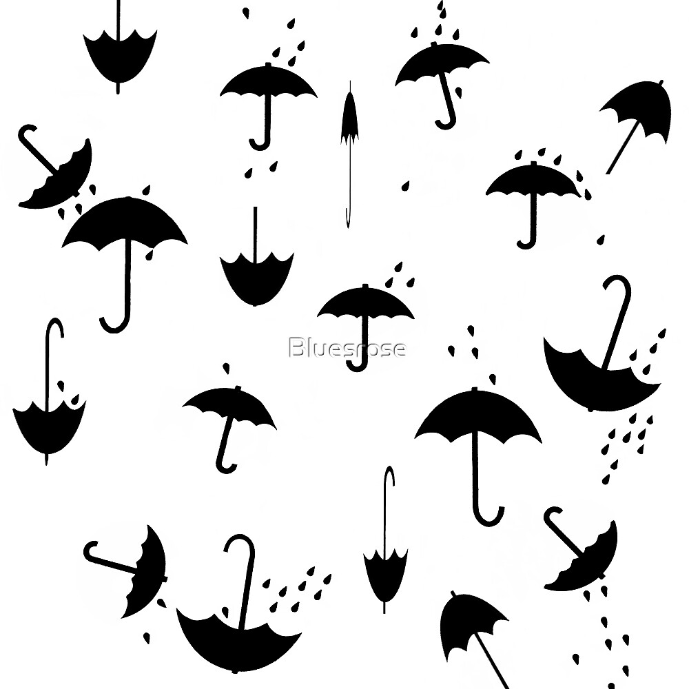 Umbrella rain. II by Bluesrose