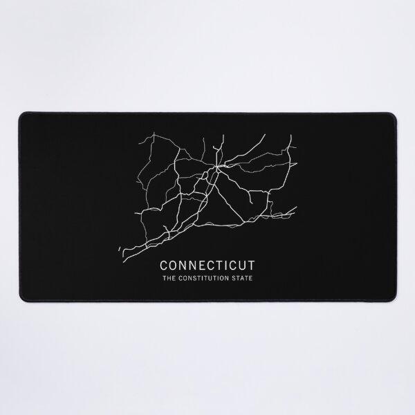Connecticut State Road Map Desk Mat