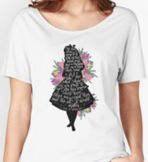 Alice in Wonderland Quote Silloette  Women's Relaxed Fit T-Shirt