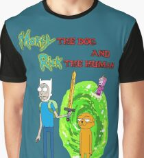 Morty the dog and Rick the human Graphic T-Shirt
