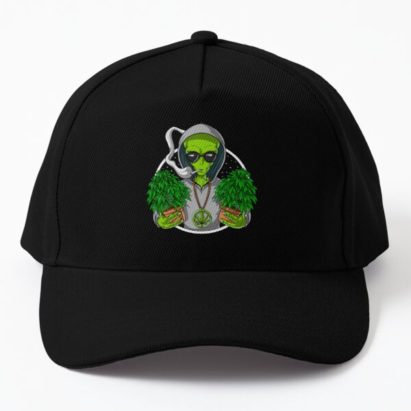 Alien Weed Stoner Baseball Cap