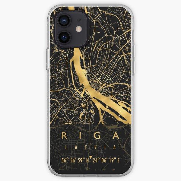 RIGA MAP LATVIA iPhone Soft Case