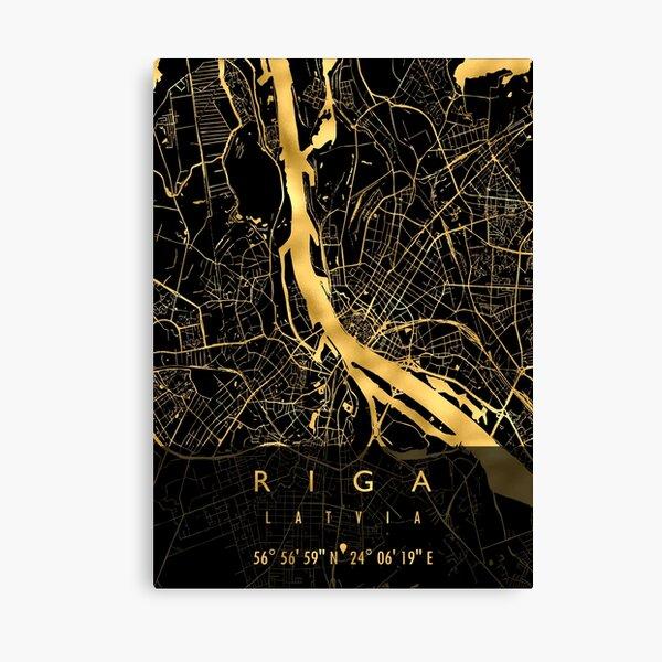 RIGA MAP LATVIA Canvas Print