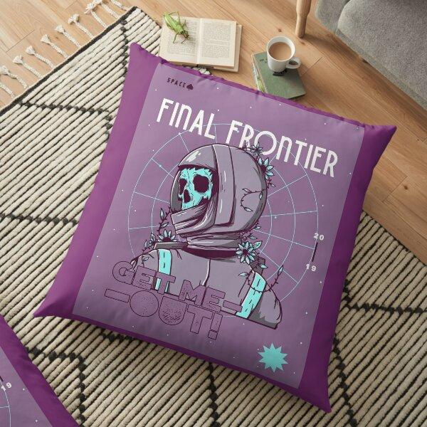 Final Frontier Skeleton Floor Pillow
