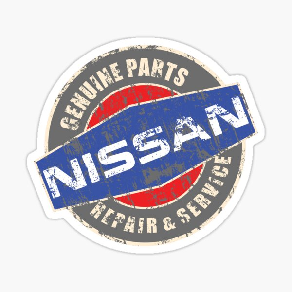 Vintage Nissan Repair Sticker