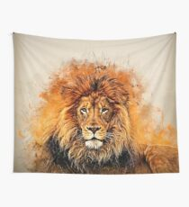 Liquid Lion Wall Tapestry