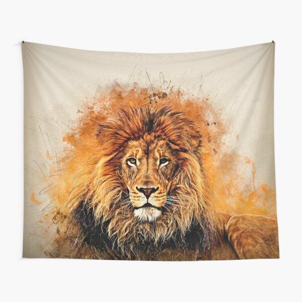 Liquid Lion Tapestry