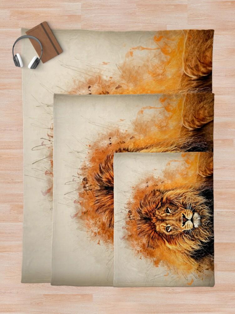 Alternative Ansicht von Flüssiger Löwe Fleecedecke