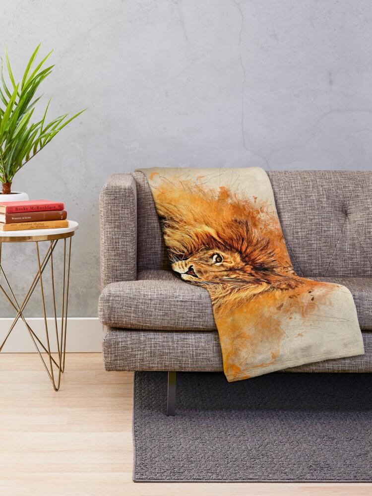 Alternate view of Liquid Lion Throw Blanket