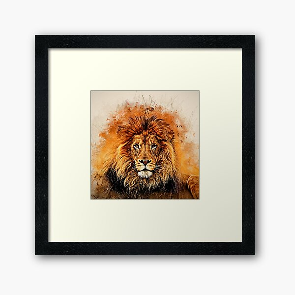 Liquid Lion Framed Art Print