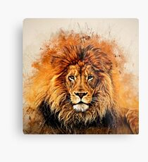 Liquid Lion Metal Print