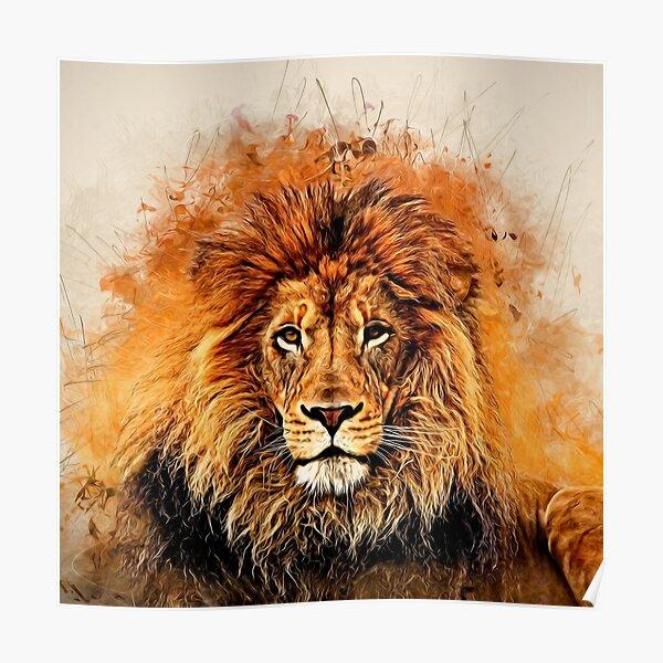 Liquid Lion Poster