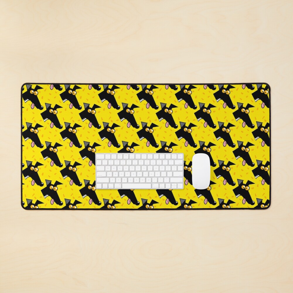 Seamless Derp: Yellow Mouse Pad
