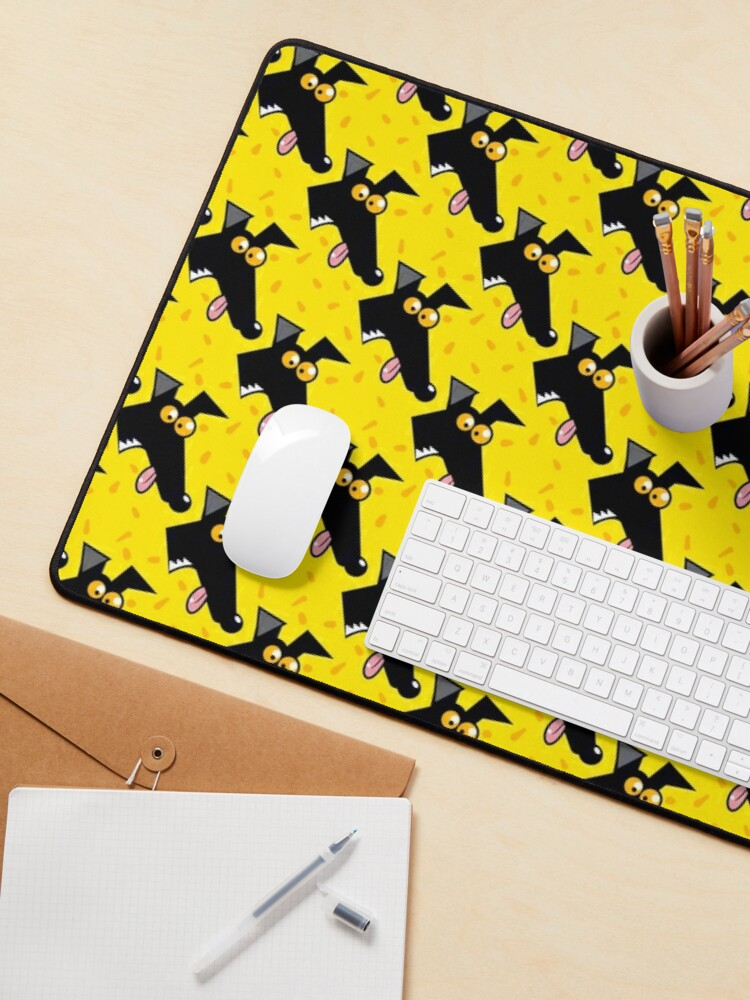 Alternate view of Seamless Derp: Yellow Mouse Pad