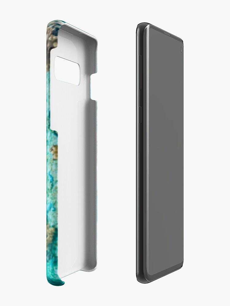 Vista alternativa de Funda y vinilo para Samsung Galaxy Guiño de tortuga verde