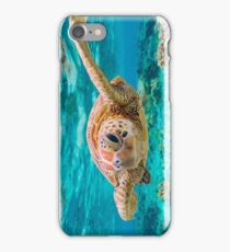 Green Turtle Wink iPhone Case/Skin