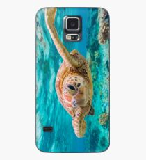 Green Turtle Wink Case/Skin for Samsung Galaxy