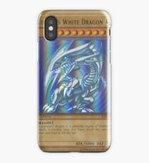 Blue-eyes white dragon iPhone Case