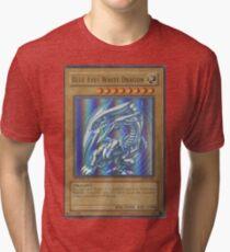 Blue-eyes white dragon Tri-blend T-Shirt
