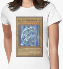 Blue-eyes white dragon Women's Fitted T-Shirt