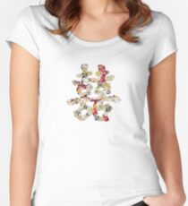 Floral Double Happiness Women's Fitted Scoop T-Shirt