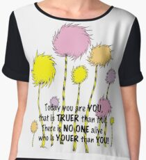 Dr Seuss Today you are You Women's Chiffon Top