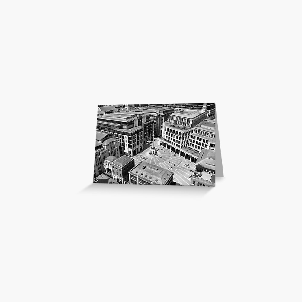 View looking down to Paternoster Square, London Greeting Card