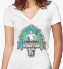 I Will Rule the World Tour Women's Fitted V-Neck T-Shirt