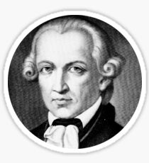 Immanuel Kant (circle stickers 3) Sticker