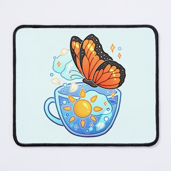 Sunshine Monarch Butterfly Teacup Mouse Pad