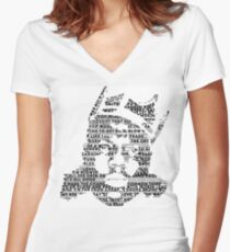 Biggie It Was All A Dream (White) Women's Fitted V-Neck T-Shirt