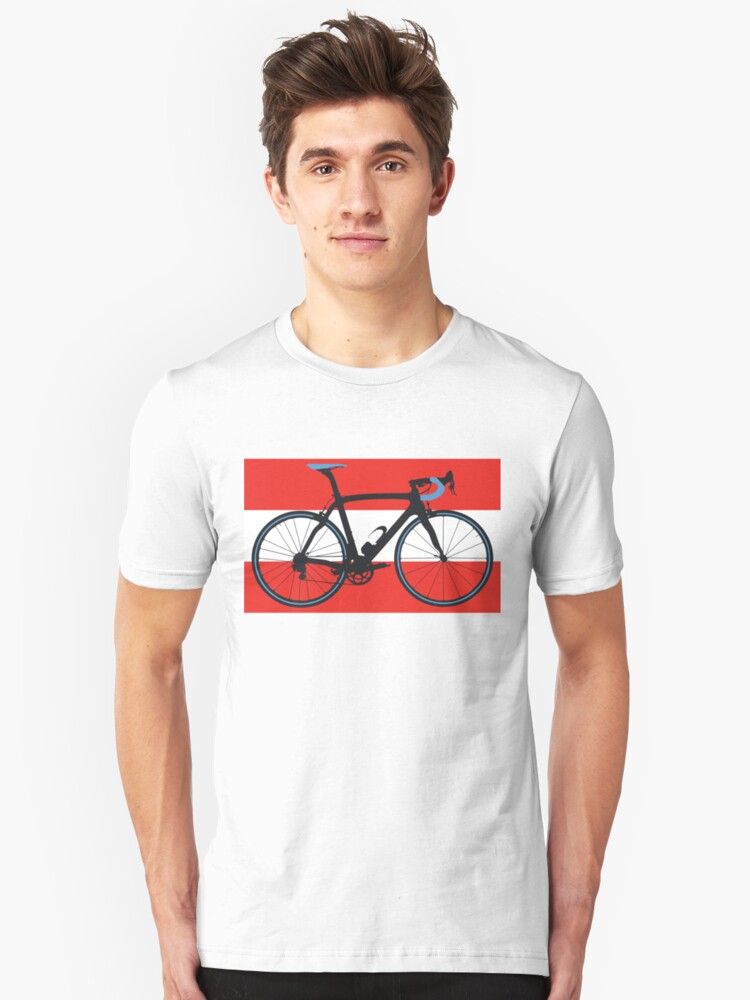 Bike Flag Austria (Big - Highlight) Unisex T-Shirt Front