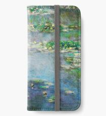 1906 Water Lilies oil on canvas.  Famous vintage fine art by Claude Monet. iPhone Wallet/Case/Skin