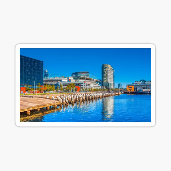Reflections at Docklands - Melbourne, Victoria Sticker
