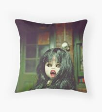 """The Doll """"Claret"""": The Vampire Throw Pillow"""