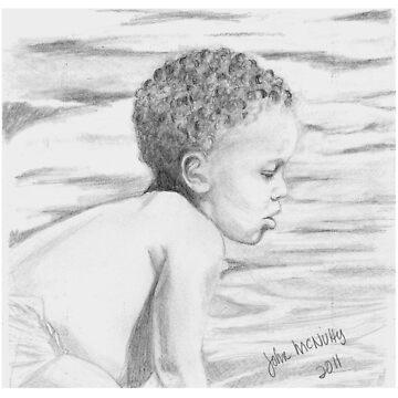 Little Boy Wading by jmac64